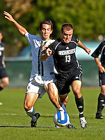 31 October 2007: The University of Binghamton Bearcats' Kyle Kucharski, a Sophomore from Maine, NY, in action against the University of Vermont Catamounts at Historic Centennial Field in Burlington, Vermont. The Catamounts shut out the visiting Bearcats 2-0...Mandatory Photo Credit: Ed Wolfstein Photo