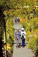 Oriental tourist at Buchart Gardens, Victoria B.C. Canada