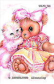 Marie, REALISTIC ANIMALS, REALISTISCHE TIERE, ANIMALES REALISTICOS, paintings+++++SweetAffection,USJO84,#A# ,Joan Marie, bear,cat