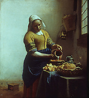 Jan Vermeer: The Kitchen-maid, 1665.  Rijksmuseum, Amsterdam. Reference only.