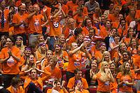13-sept.-2013,Netherlands, Groningen,  Martini Plaza, Tennis, DavisCup Netherlands-Austria, First Rubber,   Dutch supporters<br /> Photo: Henk Koster