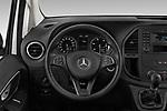 Car pictures of steering wheel view of a 2019 Mercedes Benz Vito Base 4 Door Cargo Van