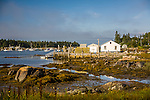 Maine fishing village at Crockett Cove, Stonington, ME