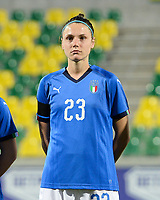 20180307 - LARNACA , CYPRUS : Italian Cecilia Salvai pictured during a women's soccer game between Italy and Spain , on wednesday 7 March 2018 at the AEK Arena in Larnaca , Cyprus . This is the final game for the first place  for  Italy and  Spain on the Cyprus Womens Cup , a prestigious women soccer tournament as a preparation on the World Cup 2019 qualification duels. PHOTO SPORTPIX.BE | DAVID CATRY