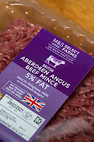 24-2-2021 Marks & Spencer Aberdeen Angus Beef Mince <br /> ©Tim Scrivener Photographer 07850 303986<br />      ....Covering Agriculture In The UK....