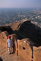 Indien, Rajasthan, Jaipur, Blick vom Fort Nahargarh, UNESCO-Weltkulturerbe Indien, Rajasthan, Jaipur, Blick vom Fort Nahargarh, UNESCO-Weltkulturerbe