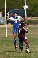 SAN ANTONIO, TX - OCTOBER 16, 2005: The Texas A&M International University Dustdevils vs. the St. Mary's University Rattlers Women's Soccer at the St. Mary's Soccer Field. (Photo by Jeff Huehn)