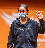 Den Bosch, The Netherlands, April 15, 2021,    Maaspoort, Billy Jean King Cup  Netherlands -  China : Draw , Xiyu Wang (CHN)<br /> Photo: Tennisimages/Henk Koster