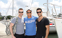 John Driscoll, Sean Carrigan, Ryan Paevey - Actors from Y&R, Days and General Hospital donated their time to Southwest Florida 16th Annual SOAPFEST and during the weekend took a break to chill on one of the boats to see dolphins and to swim off Marco Island, Florida on May 23, 2015 - a celebrity weekend May 22 thru May 25, 2015 benefitting the Arts for Kids and children with special needs and ITC - Island Theatre Co.  (Photos by Sue Coflin/Max Photos)