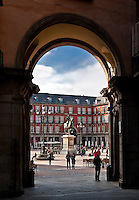 Arch entry to the Plaza Mayor, Madrid, Spain
