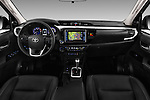 Stock photo of straight dashboard view of 2017 Toyota Hilux Lounge-Double 4 Door Pickup Dashboard