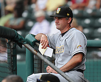 June 14, 2009: Manager Matt Quatraro (15) of the Bowling Green Hot Rods, Class A affiliate of the Tampa Bay Rays, in a game against the Greenville Drive at Fluor Field at the West End in Greenville, S.C. Photo by: Tom Priddy/Four Seam Images