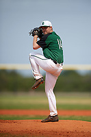 Dartmouth Big Green starting pitcher Sam Fichthorn (14) delivers a pitch during a game against the Southern Maine Huskies on March 23, 2017 at Lake Myrtle Park in Auburndale, Florida.  Dartmouth defeated Southern Maine 9-1.  (Mike Janes/Four Seam Images)