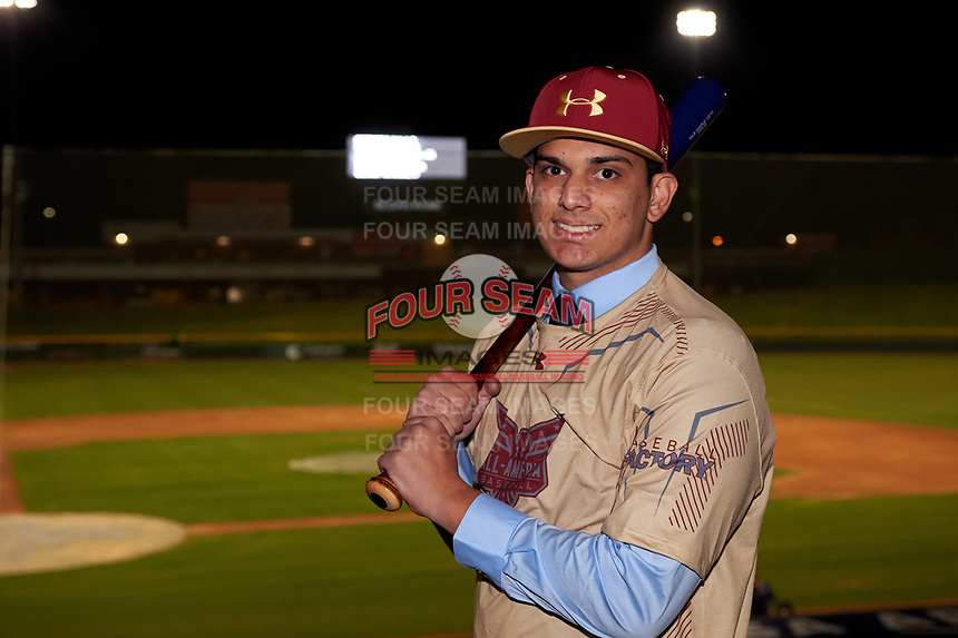 Jaedon Bader during the Under Armour All-America Tournament powered by Baseball Factory on January 17, 2020 at Sloan Park in Mesa, Arizona.  (Zachary Lucy/Four Seam Images)Under Armour All-America Tournament powered by Baseball Factory on January 17, 2020 at Sloan Park in Mesa, Arizona.  (Zachary Lucy/Four Seam Images)