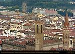Badia Fiorentina Bargello Porta San Niccolo from Giotto Campanile Florence
