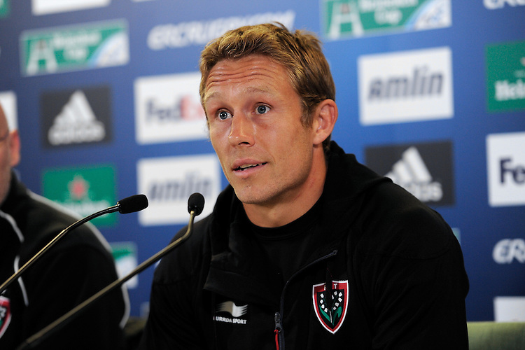 Jonny Wilkinson of RC Toulon during the Captain's Run press conference before the Heineken Cup Final at the Aviva Stadium, Dublin on Friday 17th May 2013 (Photo by Rob Munro).