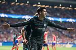 Chelsea's Alvaro Morata celebrating a goal during UEFA Champions League match between Atletico de Madrid and Chelsea at Wanda Metropolitano in Madrid, Spain September 27, 2017. (ALTERPHOTOS/Borja B.Hojas)
