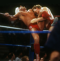 Ric Flair Bob Backlund, 1987 Photo By John Barrett/PHOTOlink