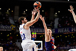 Real Madrid's Sergio Llull and FC Barcelona Lassa's Marcus Eriksson duringTurkish Airlines Euroleague match between Real Madrid and FC Barcelona Lassa at Wizink Center in Madrid, Spain. March 22, 2017. (ALTERPHOTOS/BorjaB.Hojas)
