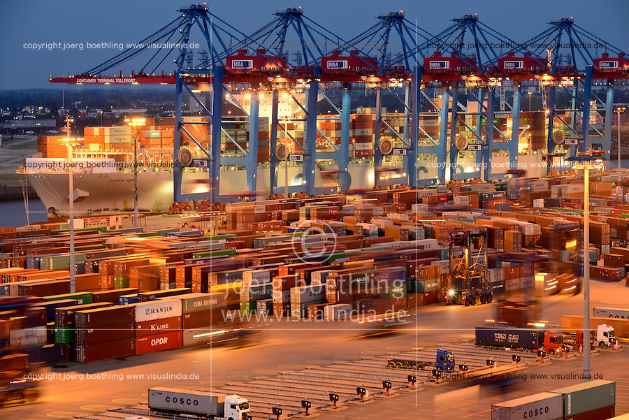 GERMANY Hamburg, Container terminal HHLA Tollerort / DEUTSCHLAND Hamburg, HHLA Containerterminal Tollerort
