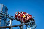 Germany, Baden-Wurttemberg, Rust (Baden): Europa-Park - Euro-Mir roller coaster at Russian themed area | Deutschland, Baden-Wuerttemberg, Rust (Baden) im Ortenaukreis: Europa-Park - Euro-Mir Achterbahn im russischen Themenbereich