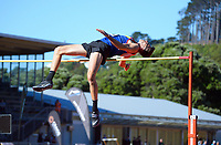 Hamish Kerr competes in the men's elite high jump. 2021 Capital Classic athletics at Newtown Park in Wellington, New Zealand on Saturday, 20 February 2021. Photo: Dave Lintott / lintottphoto.co.nz