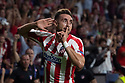 Hector Herrera of Atletico de Madrid celebrates after scoring during the Atletico de Madrid against Juventus Uefa Champions League football match at Wanda Metropolitano stadium in Madrid on September 18, 2019.