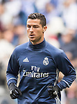Cristiano Ronaldo of Real Madrid in training prior to the La Liga 2016-17 match between Real Madrid and Malaga CF at the Estadio Santiago Bernabéu on 21 January 2017 in Madrid, Spain. Photo by Diego Gonzalez Souto / Power Sport Images