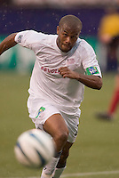 New England Revolution's Marshall Leonard. The New England Revolution played the NY/NJ MetroStars to a 1 to 1 tie at Giant's Stadium, East Rutherford, NJ, on April 24, 2004.