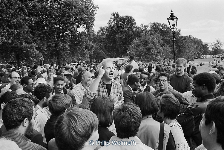 Barry Roberts, philosopher, Speakers' Corner, Hyde Park, London, 1993.