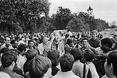 Barry Roberts, philosopher, Speakers' Corner, Hyde Park, London, 1993.