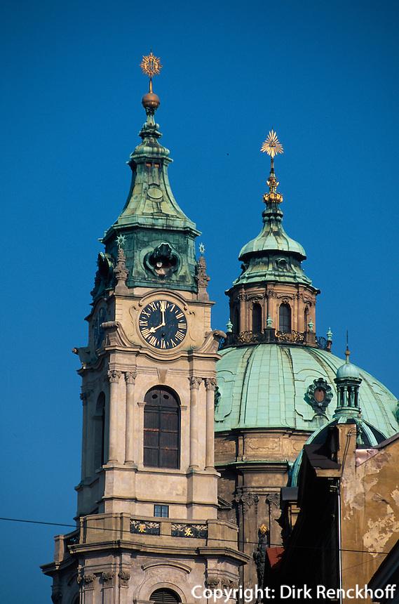 Tschechien, Prag, Kleinseite (Mala Strana), St. Niklas, Unesco-Weltkulturerbe.