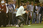 Greg Chappell nets practice Lords cricket London.  The English Season published by Pavilon Books 1987
