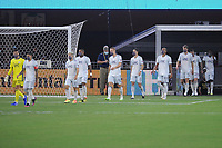 WASHINGTON, DC - AUGUST 25: New England Revolution entering the field during a game between New England Revolution and D.C. United at Audi Field on August 25, 2020 in Washington, DC.