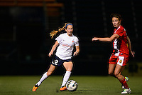 Sky Blue FC midfielder Manya Makoski (22). The Western New York Flash defeated Sky Blue FC 2-0 during a National Women's Soccer League (NWSL) semifinal match at Sahlen's Stadium in Rochester, NY, on August 24, 2013.