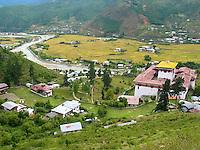 The Dzong overlooking Thimphu, capital of Bhutan
