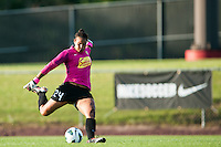 Western New York Flash goalkeeper Adrianna Franch (24). The Western New York Flash defeated Sky Blue FC 3-0 during a National Women's Soccer League (NWSL) match at Yurcak Field in Piscataway, NJ, on June 8, 2013.