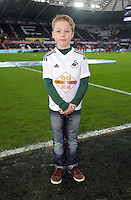 Children mascots during the Barclays Premier League match between Swansea City and West Bromwich Albion played at the Liberty Stadium, Swansea on December 26 2015