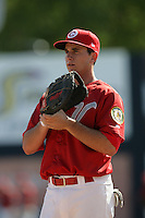July 12 2009: Anthony Aliotti of the Vancouver Canadians before game against the Boise Hawks at Nat Bailey Stadium in Vancouver,BC..Photo by Larry Goren/Four Seam Images