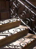 Shadow of banister on steps<br />
