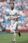 Sergio Ramos of Real Madrid reacts during the La Liga match between Real Madrid and Levante UD at the Estadio Santiago Bernabeu on 09 September 2017 in Madrid, Spain. Photo by Diego Gonzalez / Power Sport Images