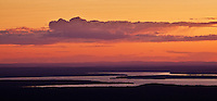Sunset as seen from Cadillac mountain, Acadia National Park, Maine