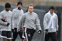 DC United defender Bryan Namoff (26) at the first training session of the 2008 season at the auxiliary fields at RFK Stadium in Washington DC on Monday January 28, 2008.