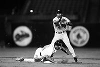 Mariano Duncan of the New York Yankees at Anaheim Stadium in Anaheim,California during the 1996 season. (Larry Goren/Four Seam Images)