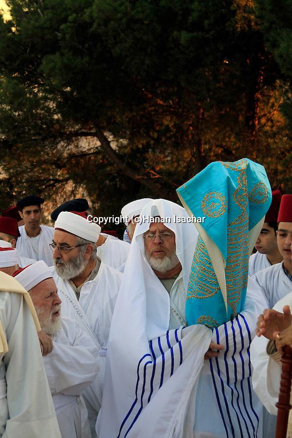 Samaria, Samaritan pilgrimage to Mount Gerizim done on Passover, Shavuot and Succot holidays