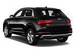 Car pictures of rear three quarter view of a 2019 Audi Q3 Premium Plus 5 Door SUV angular rear
