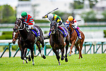 TAKARAZUKA,JAPAN-MAY 2: World Premiere,ridden by Yuichi Fukunaga,wins the Tenno Sho (spring) at Hanshin Racecourse on May 2,2021 in Takarazuka,Hyogo,Japan. Kaz Ishida/Eclipse Sportswire/CSM