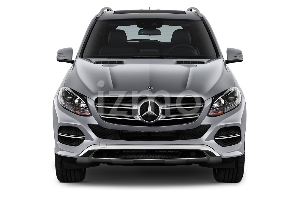 Car photography straight front view of a 2018 Mercedes Benz GLE-Class GLE350 5 Door SUV Front View