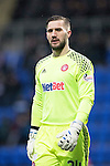 St Johnstone v Hamilton Accies…28.01.17     SPFL    McDiarmid Park<br />Accies keeper Gary Woods<br />Picture by Graeme Hart.<br />Copyright Perthshire Picture Agency<br />Tel: 01738 623350  Mobile: 07990 594431