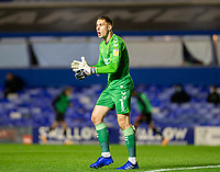 2nd October 2020; St Andrews Stadium, Coventry, West Midlands, England; English Football League Championship Football, Coventry City v AFC Bournemouth; Coventry City Goalkeeper Marko Marosi clapping and shouting at his team to give encouragement near the end of the match